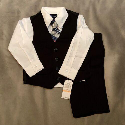 Nautica Childrens Dresswear - N335292 Little Boys Micro Check Vest Set - 2T/2