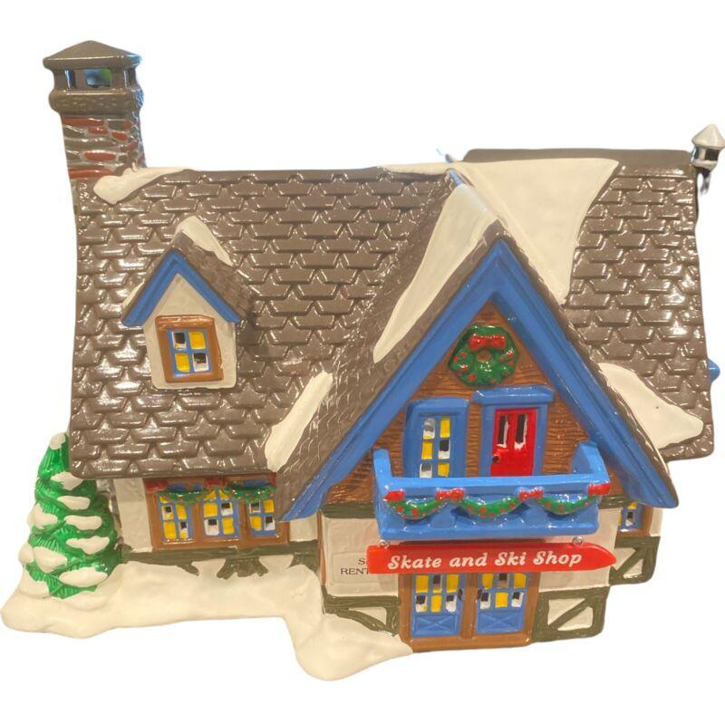 "Vtg Department 56 Christmas The Original Snow Village ""SKATE & SKI SHOP"" #5467-4"