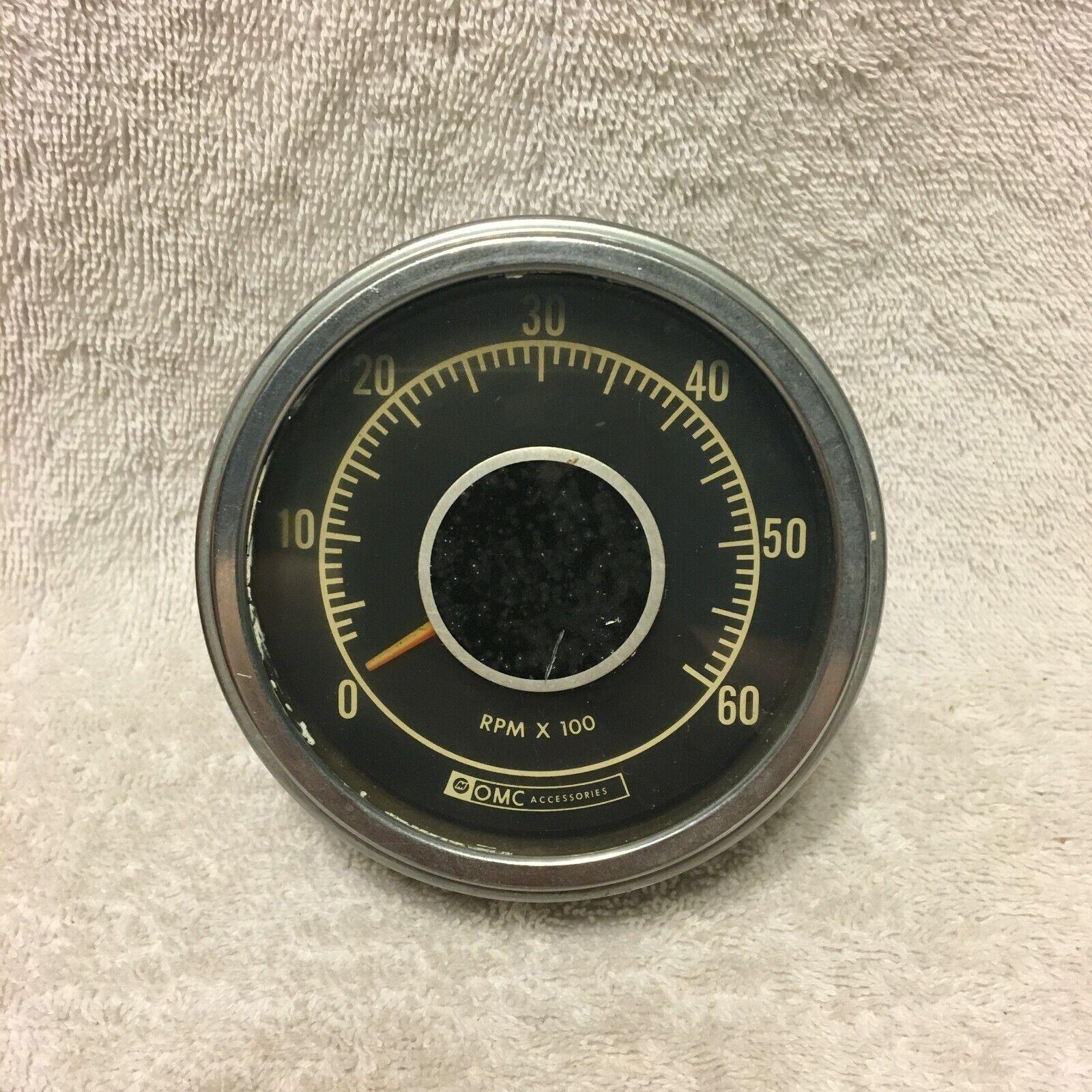 Vintage Marine Alternator Gauge Tachometer OMC RPM x 100 60 Accessories Outboard