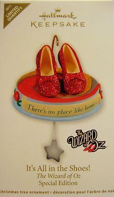 Hallmark Wizard Oz Its All in the Shoes Ornament Ltd Qty 2011
