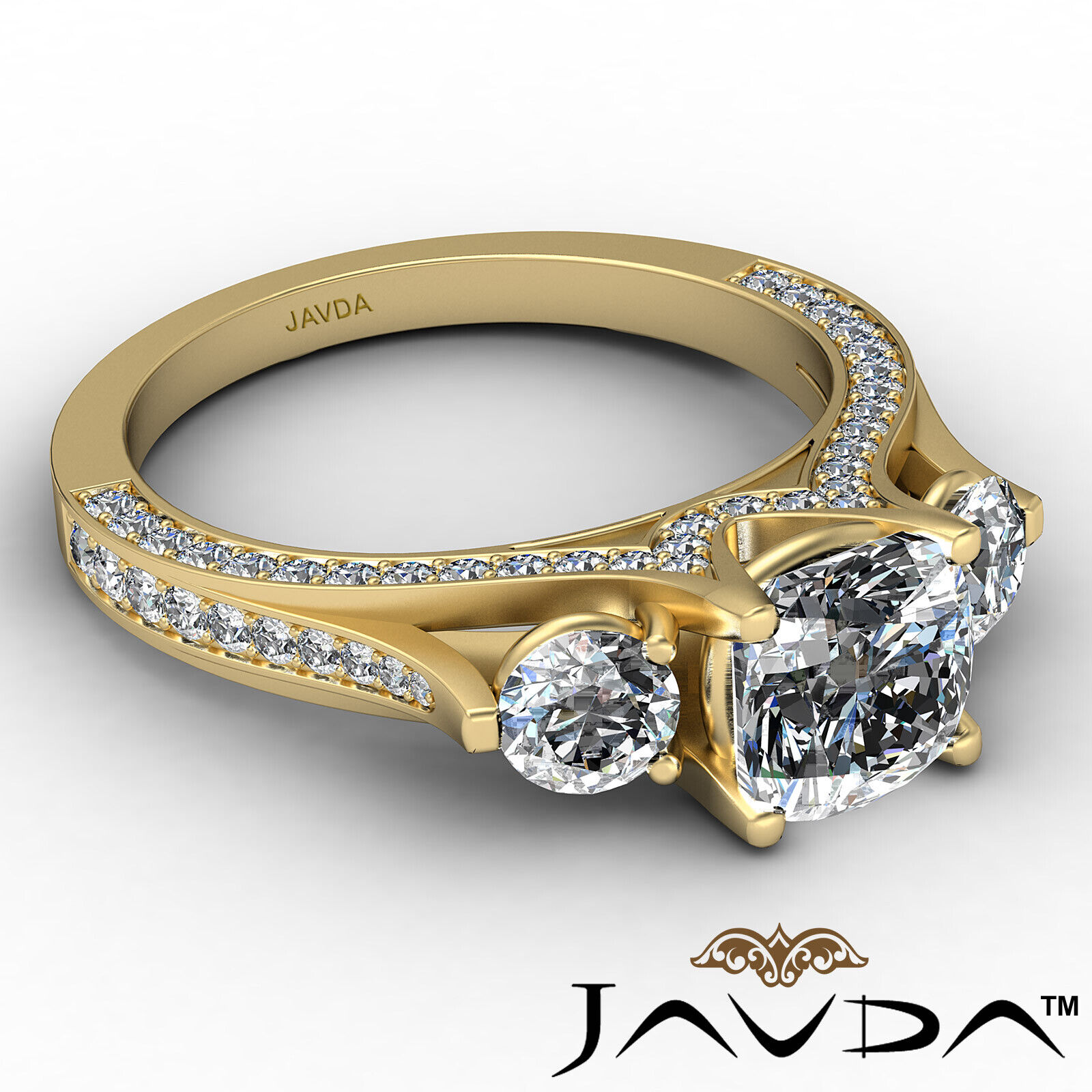 Cushion Diamond Engagement Ring Certified by GIA E Color & VVS1 clarity 2.1 ctw 7