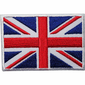 UK Flag Embroidered Iron / Sew On Union Jack Patch United Kingdom Badge Transfer