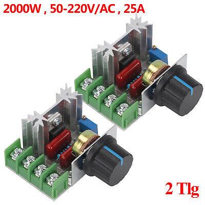 400W Motordrehzahlregler AC Spannungsregler Schalter Controller 220V Dimmer