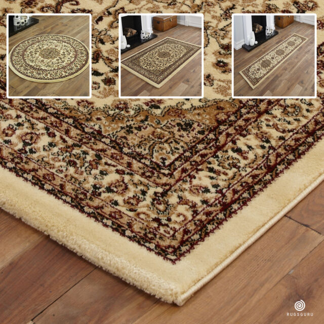 Quality Small X Extra Large Rug Traditional Clic Beige Rugs Runners Mats