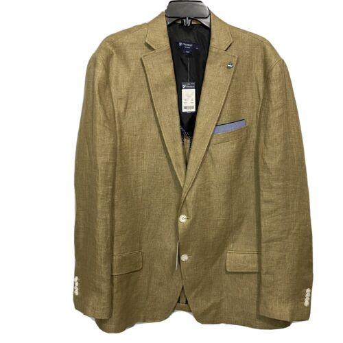 $250 CREMIEUX Off Duty Blazer Sport Coat Jacket XL Dark Khaki Elbow Patches Clothing, Shoes & Accessories