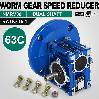 Worm Gear 151 63c Speed Reducer Gearbox Dual Output Shaft Unique Hq Durable
