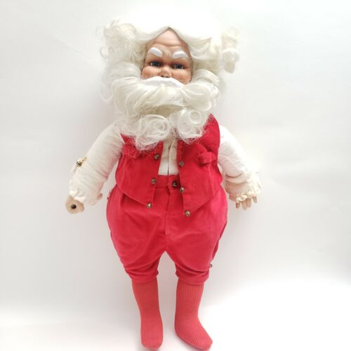 Vintage 1988 Santa Claus Doll Figure Christmas Holiday Figure 18 inches