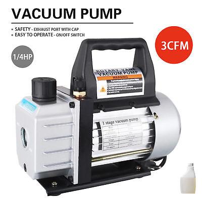 14hp 3 Cfm Deep Vacuum Pump Black 110v Hvac Ac Refrigerant Charge