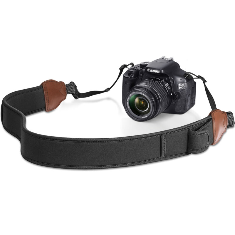 Camera Strap with Accessory Pockets Buckles Neck Shoulder Belt for Canon Nikon
