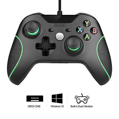 BLACK BRAND NEW USB WIRED CONTROLLER FOR MICROSOFT XBOX ONE S DESKTOP LAPTOP