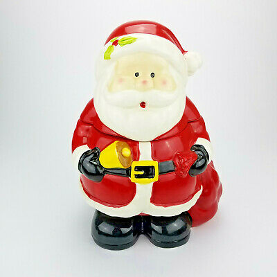 Bell Jar Collection - Cute Santa Holding A Bell Cookie Jar Christmas Heritage Mint Holiday Collection