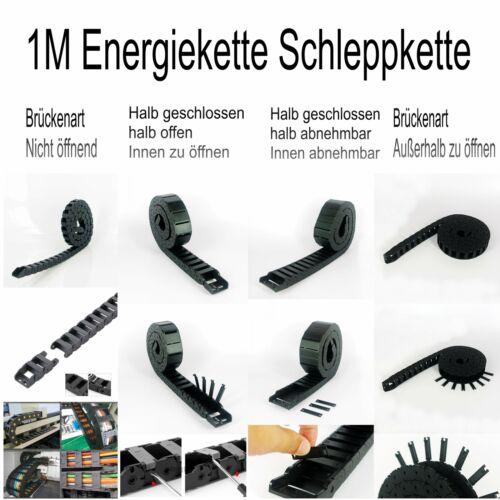 1M Hochwertige Nylon Energiekette Schleppkette Drahtträger Kabelschlepp