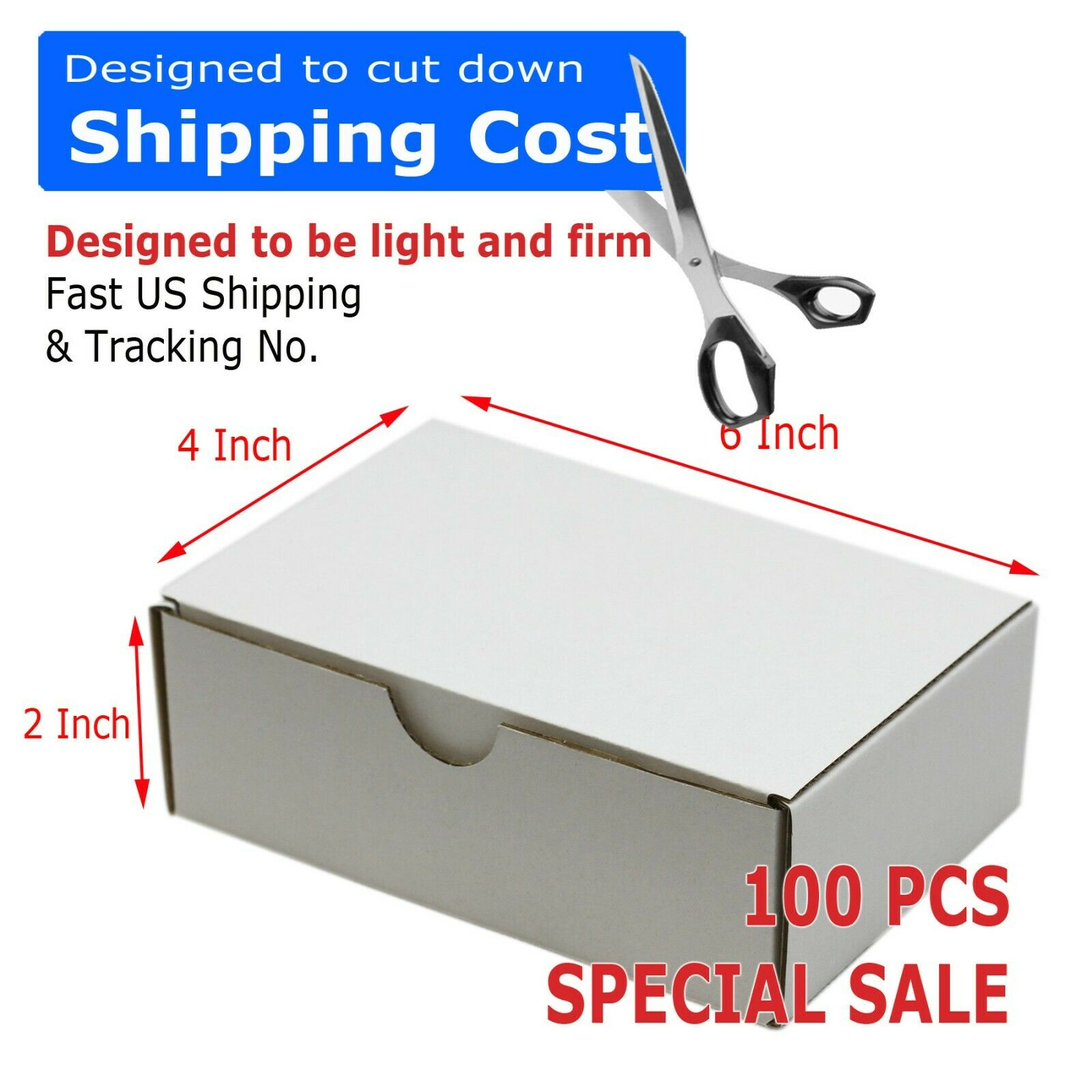 100 6x4x2 Cardboard Packing Mailing Moving Shipping Boxes Corrugated Box Cartons