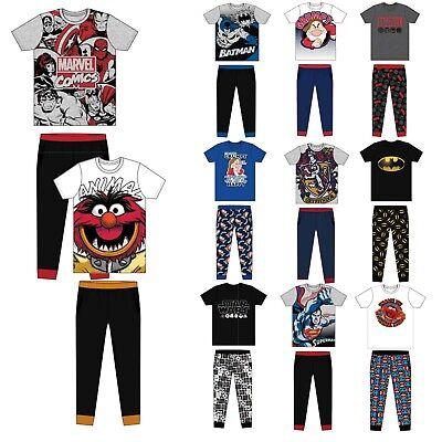Mens Novelty DC Comics Super Hero's Pjs Pyjamas Long Costume Lounge Set Pants
