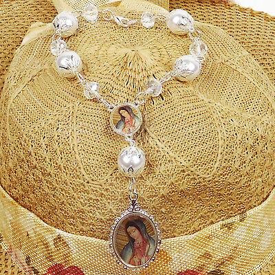 Baptism Favors Girl Boy Rosary Virgen Mary Guadalupe Recuerdos de Bautizo 12pc