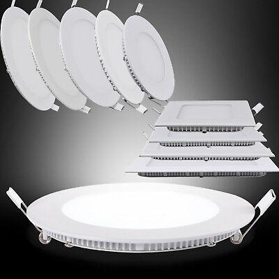 Unterputz-leuchte (3W/6W/15/18W/24W LED Panel Leuchte Lampe Deckenlampe Einbau Unterputz Ultraslim)