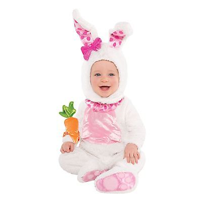 Kaninchen Kleinkind Kostüm (Osterhase Zauberer Weißen Kaninchen Wabbit Baby Kleinkind Plüsch Maskenkostüm)