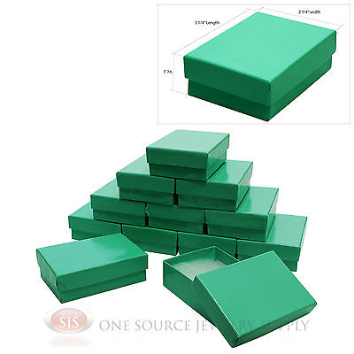 12 Teal Blue Cotton Filled Jewelry Gift Boxes 3 14 X 2 14 Charm Pendant Box