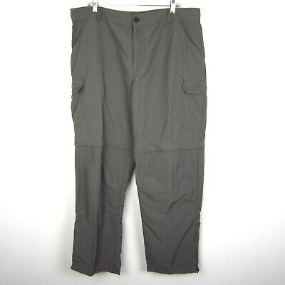 EUC Cabela's 40 X 32 Convertible Pants Shorts Articulated Cargo Gray Classic Fit