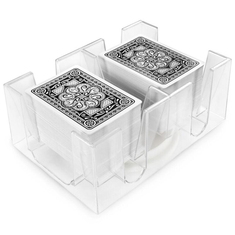 6-Deck Rotating Card Holder - Revolving Playing Card Tray Gpca-102