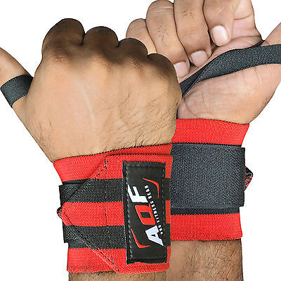 AQF Super Heavy Duty Wrist Wraps Supports Wrist Straps Gym Training Fist 13""