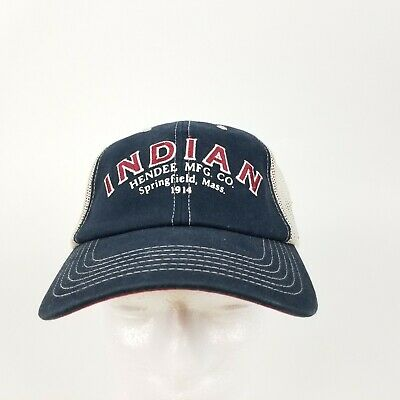 Indian Motorcycle Trucker Cap Low Profile Mesh Hat Adjustable Soft Ball Cap