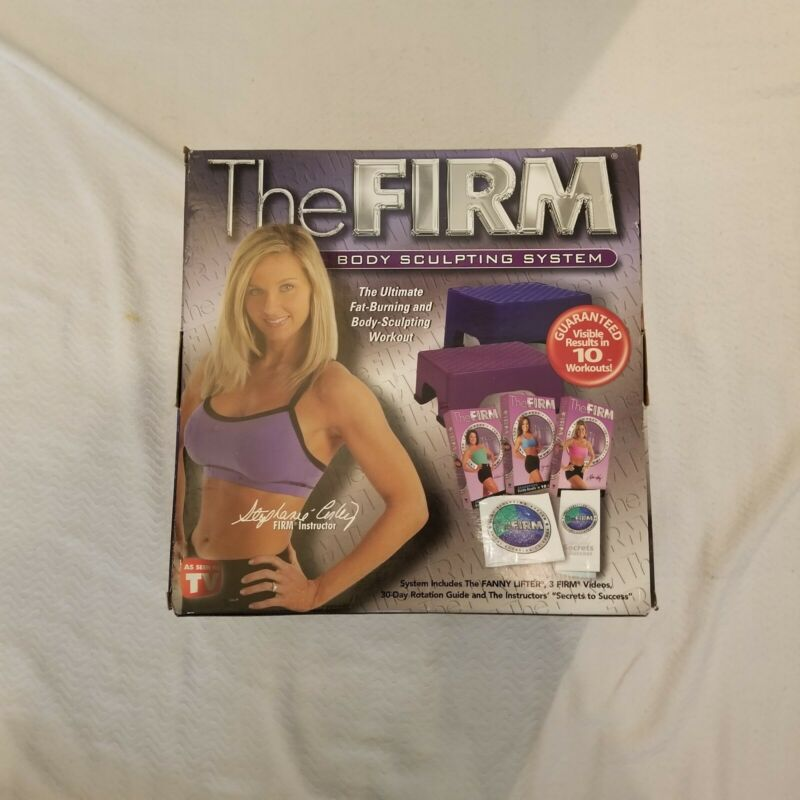 The FIRM Body Sculpting Fanny Lifter Aerobic Stepper Workout System + VHS Videos