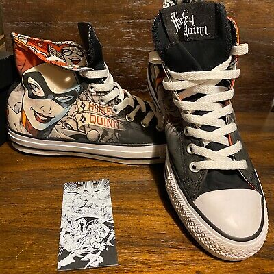 Converse ALL STAR Chuck Taylor HARLEY QUINN Joker MENS 7 WNS 9 Shoes NEW