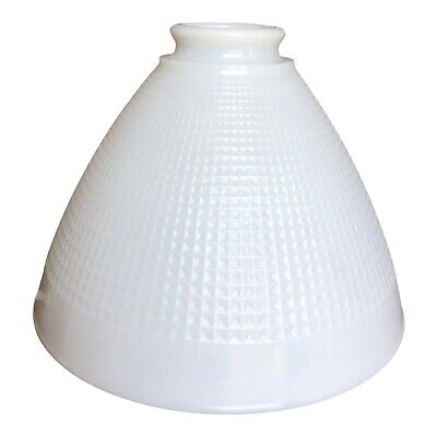 Vtg Corning 820120 Milk Glass Stiffel or Torchiere Lamp Shade Diffuser 8 inches