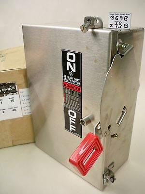 Ge Stainless Thn2261ssdc 30a 600vdc Non-fused Dc Rated Safety Switch New