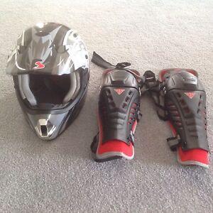 Quad bike helmet + Knee pads Hallam Casey Area Preview