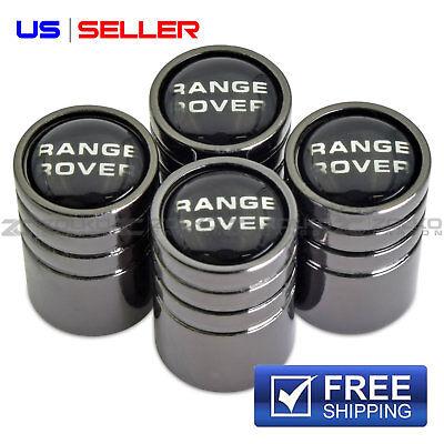 RANGE ROVER VALVE STEM CAPS WHEEL TIRE BLACK CHROME- US SELLER VE65