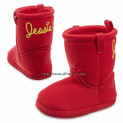Toy Story Cowgirl JESSIE COSTUME BABY BOOTS SLIPPERS 0-24 Months Disney Store  - Infant Jessie Toy Story Costume