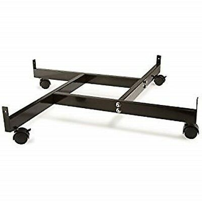Only Hangers 4-way Gridwall Panel Base With Casters- Black