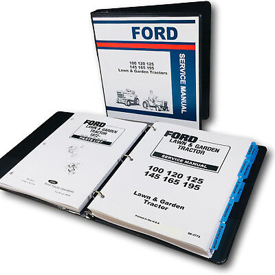 (FORD LGT 100 120 125 145 165 195 LAWN GARDEN TRACTOR SERVICE REPAIR PARTS MANUAL)