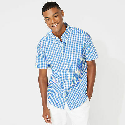 Nautica Mens Classic Fit Plaid Oxford Shirt