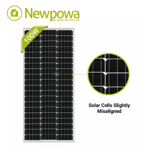 Newpowa 100W Watt 12V Mono Solar Panel New Condition A-Grade For Marine RV