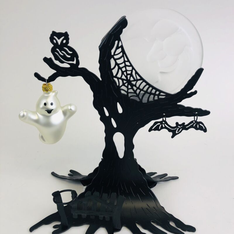 PartyLite Ghostly Tree Tealight tealight holder w/box Excellent P7859 metal