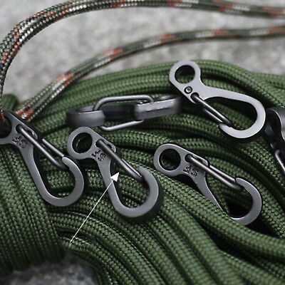 10*Climbing Spring Hanging Buckle Snap Clip Hook Keychain Keyring Carabiners New