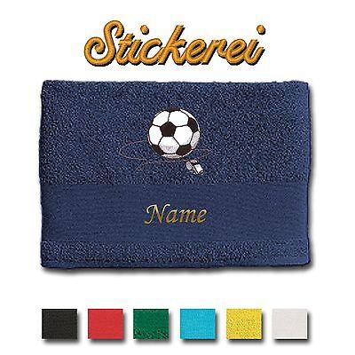 Asciugamano Telo da bagno ricamato RICAMO Calcio Pallone + NOME