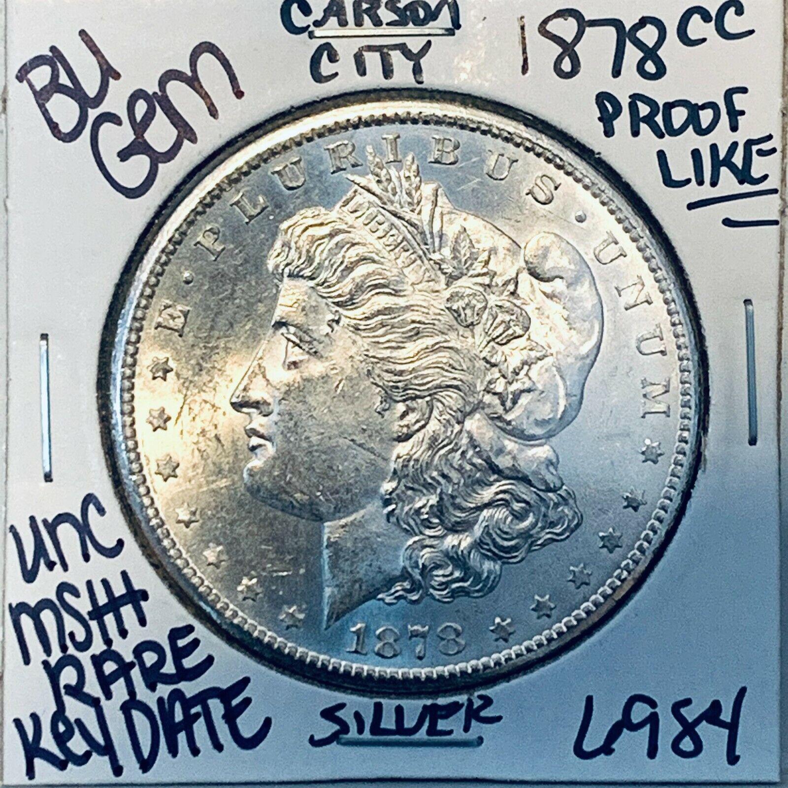 1878 CC BU GEM MORGAN SILVER DOLLAR UNC-MS U.S. MINT RARE KEY COIN 6984 - $565.00