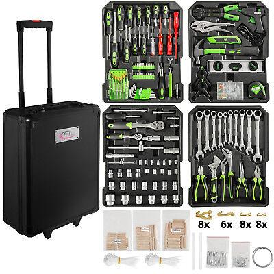 899 tlg. Alu Werkzeugkoffer mit Werkzeug Werkzeugkasten Werkzeugset Box Trolley