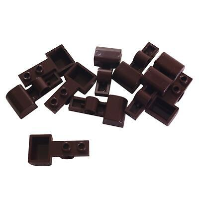 10 NEW LEGO Plate, Modified 1 x 2 with Pin Hole and Bucket (Catapult) Dark Brown