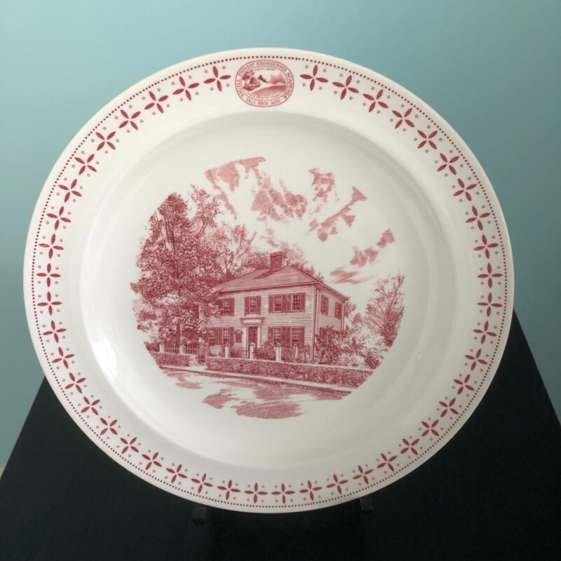 "PHILLIPS EXETER ACADEMY PLATE ""First Academy Bldg, Kerr House"" WEDGWOOD, 1956"