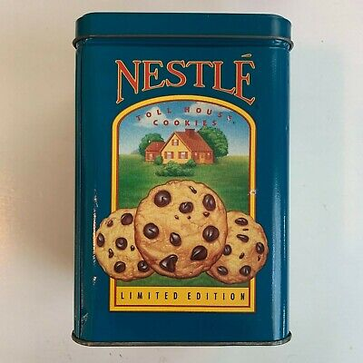 Nestle Toll House Cookies Limited Edition Tin Container 1990 Vintage