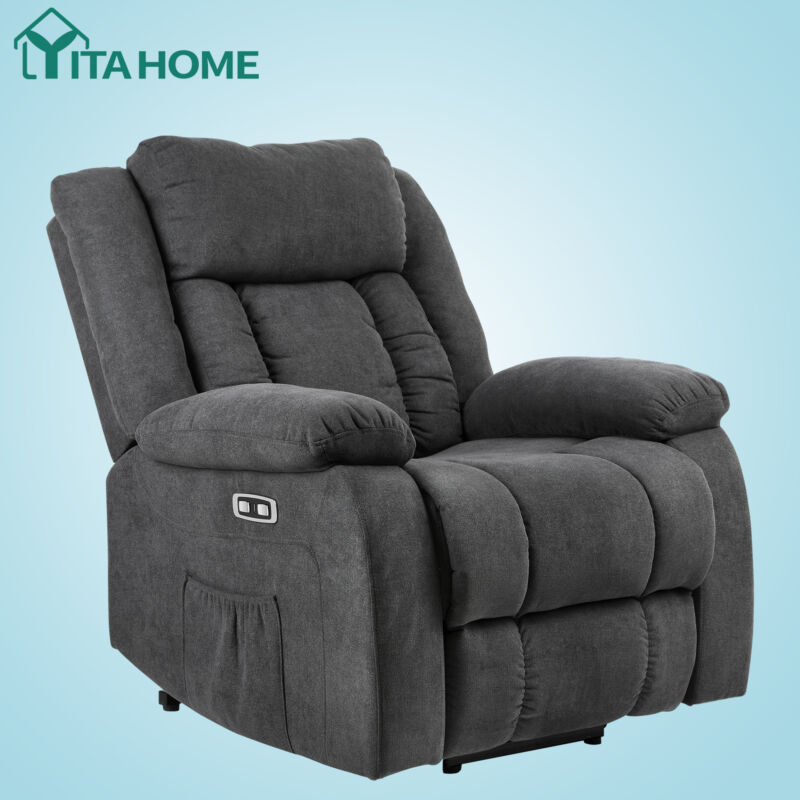 YITAHOME Recliner Chair Auto Electric Power Lift Massage w/Remote Heat Vibration