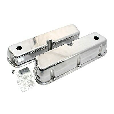 Polished Aluminum Valve Covers Tall – Small Block Ford SBF 289 302 351W 5.0