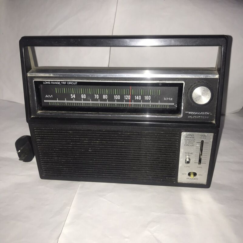 Realistic Ac/ Battery Operated Long Range TRF Circuit Radio Model 12-656A