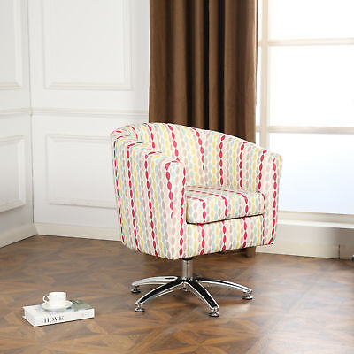DESIGNER TWIST FABRIC SWIVEL TUB CHAIR ARMCHAIR DINING LIVING ROOM OFFICE  for sale  Shipping to Ireland