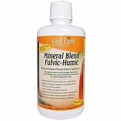 Vital Earth Minerals Mineral Blend Fulvic Humic 32 oz IMMUNE DIGESTION SLEEP (Digestion Blend)